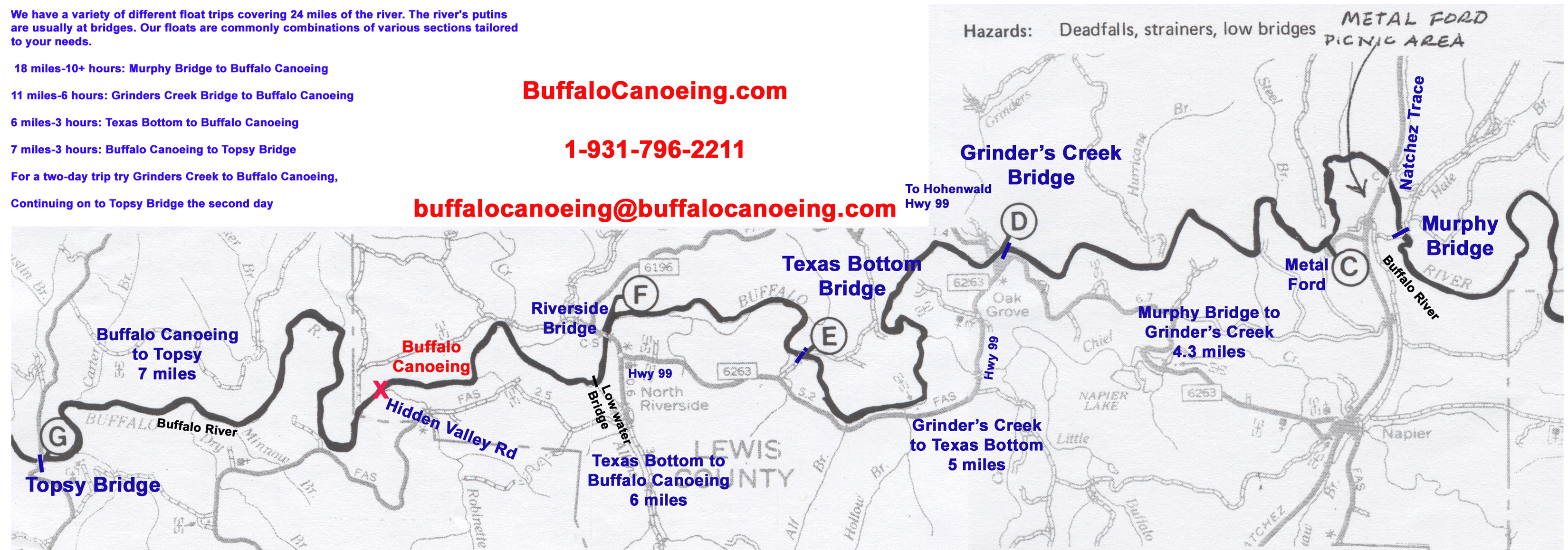 . buffalo river map